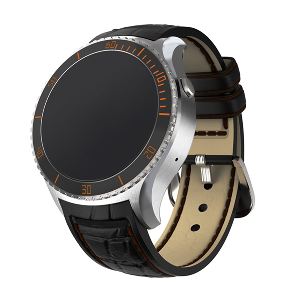 I2 Bluetooth Smart Watch Leather Wristband Android 5.1 Phone function 3G SIM WIFI GPS Google Play Store Map Heart Rate Tracker(China (Mainland))