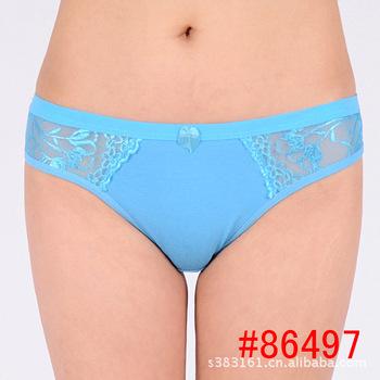 2015 Real Bow Solid Cotton women Underwear bragas thong Briefs ladies Panties Underwear women