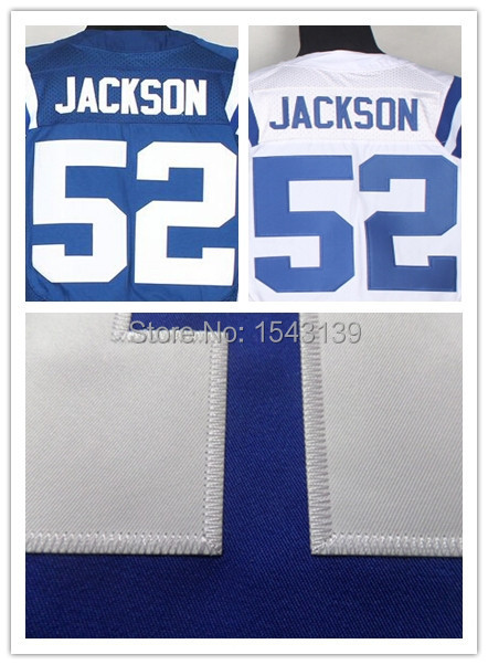 Men's Cheap Indianapolis #52 D'Qwell Jackson Stitched Embroidered Logos High Quality American Football Jersey(China (Mainland))