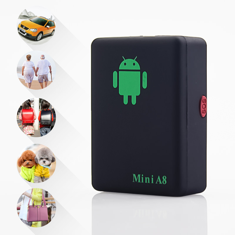 Mini A8 Newest GPRS Tracker Locator Real Time Car Kids Pets older GSM/GPRS/LBS Tracking Power adapter High Quality(China (Mainland))