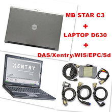 2015 Best for Mercedes Benz Diagnosis MB Star C3 Multiplexer Scanner Tool + XENTRY Software HDD + dell d630 Laptop Free Shipping(China (Mainland))
