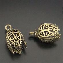 GraceAngie 8PCS Antique Style Bronze Color Hollow-Pattern Pendant Finding 17*11*11MM 05745(China (Mainland))