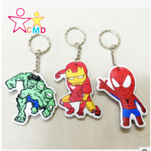 Avengers 2 Superman Spiderman Batman action figures keychain pvc small key Toy Pendant NO1214(China (Mainland))