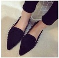 Flat heel woman 2017 new European and American women fashion Liu nail flat shoes woman pointed