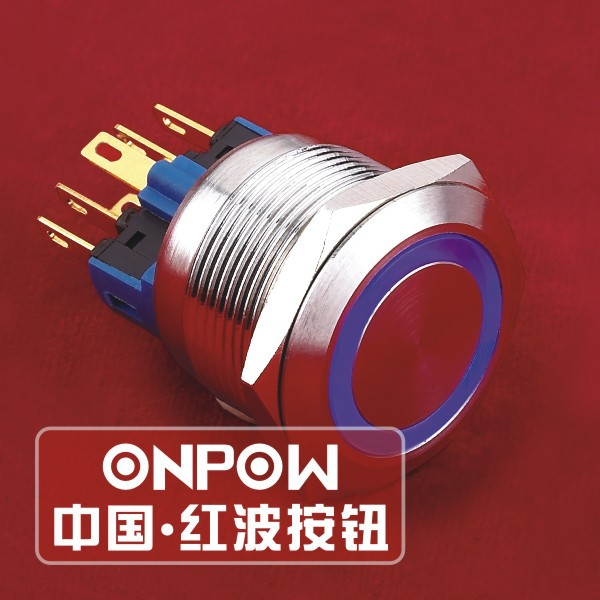 ONPOW 22mm ENGINE START STOP stainless steel ring illuminated Pushbutton switch (GQ22-11E/B/6V/S) CE, ROHS(China (Mainland))