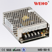 (MS-50-5) mini size 111*78*36 mm 85-264VAC input / 5VDC output 50w ac dc power supply(China (Mainland))