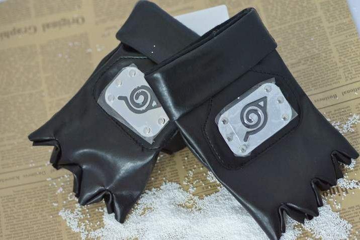 HOT Anime Naruto Ninja Gloves Kakashi Gloves Cosplay Costume Accessory Toy Gift(China (Mainland))