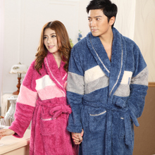 Bath Robe Women Nightgown Bathrobe Men Pajama roupao camisolas de dormir Thick Long Night-Gown Shower Unisex Sleepwear 1pcs/lot(China (Mainland))
