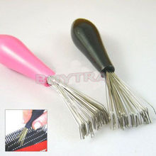 Durable Mini 1PC Hot Sales Comb Hair Brush Cleaner Embeded Tool Salon Home Essential Color Randomly(China (Mainland))
