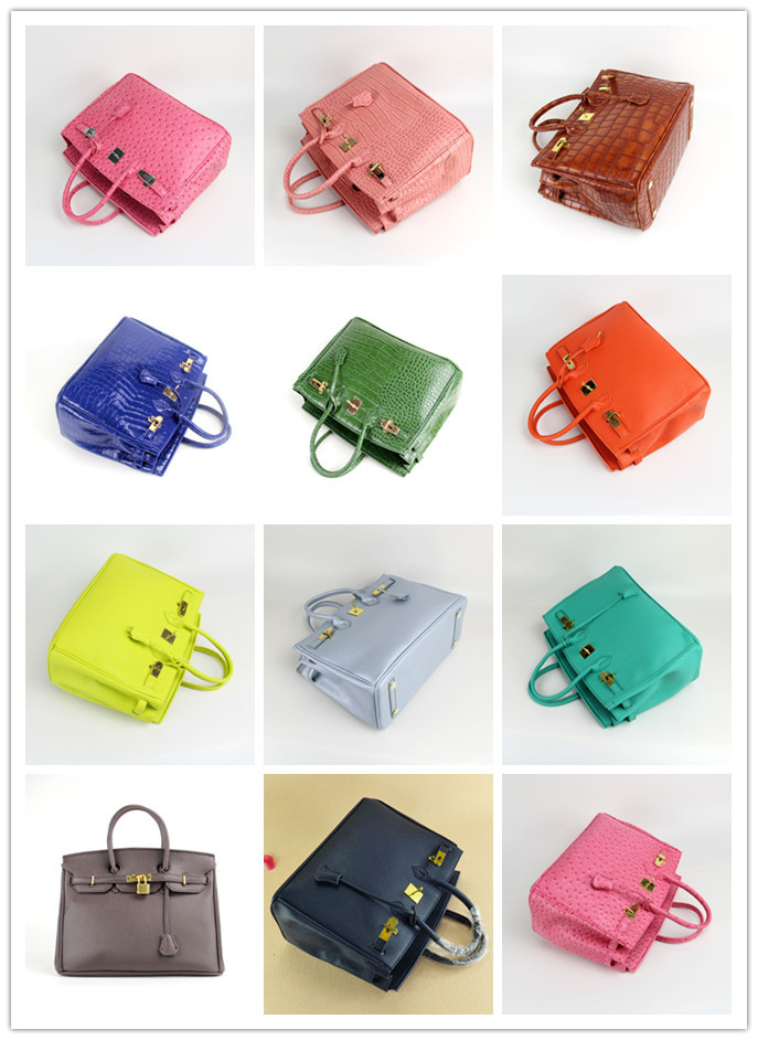 2015 New Arrived H France brand leather handbag gold&Silver hardware 35cm woman bags fashion designers Women - Baby shows store