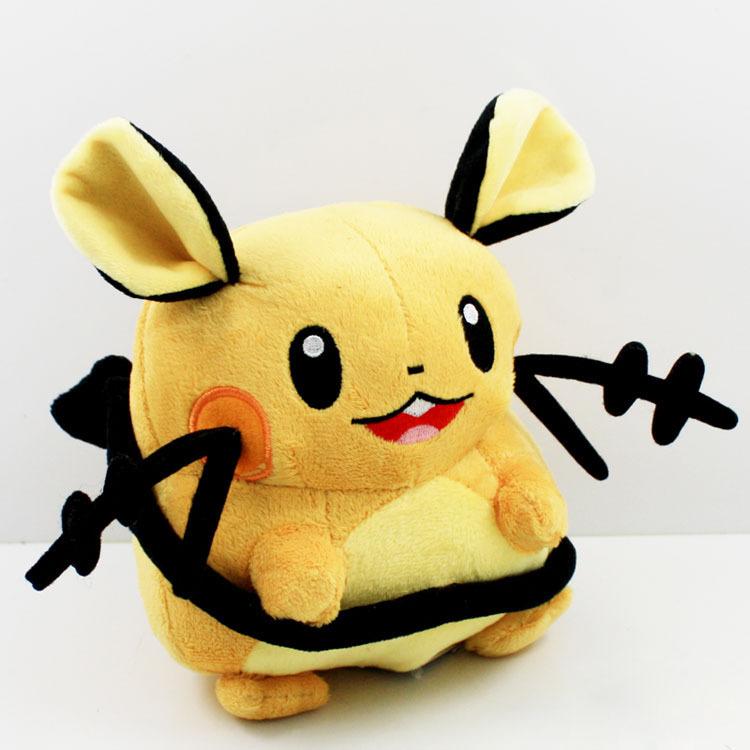 EMS 50pcs/lot Anime Cartoon Pokemon Dedenne Plush Toys Pocket Soft Stuffed Animal Doll 17cm<br><br>Aliexpress