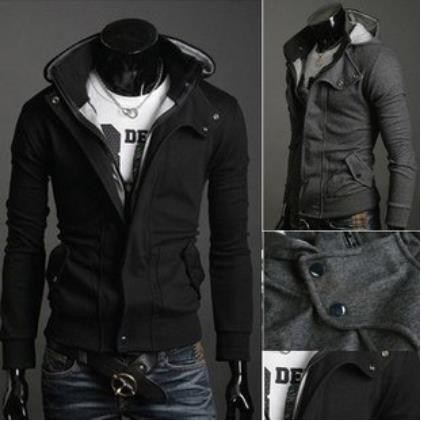 New Coats Men Outwear Mens Special Hoodie Jacket Coat Men Clothes Cardigan Style Jacket Free Shipping 3 Colors Size M-XXXL HS781(China (Mainland))