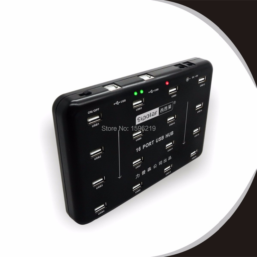Industrial Grade 16 Port USB HUB hard disk production batch testing bulk download With Universal Adapter for US UK AU EU(China (Mainland))