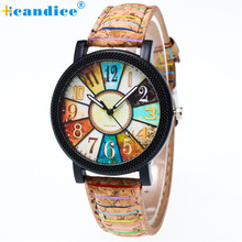 Buy Fashion Men Women Unisex Watches Retro Harajuku Graffiti Pattern Clocks PU Leather Band Analog Quartz Wrist Watch Creative for $1.85 in AliExpress store