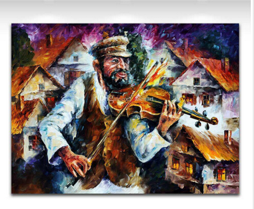 Palette Knife Painting Famous Musicians Impressive Performance Picture Printed On Canvas For Home Office Hotel Wall Decor Art(China (Mainland))