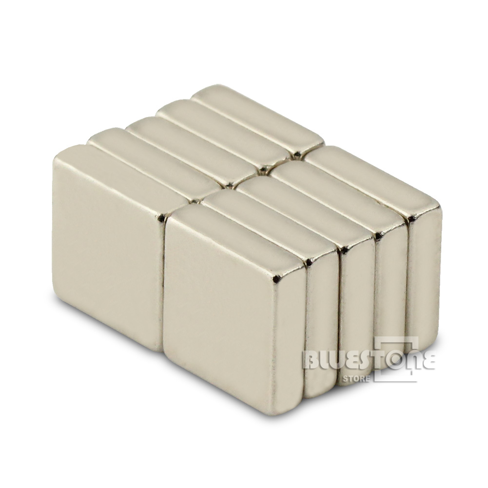 Гаджет  N50 Grade 10PCS Super Strong Block Cuboid Magnets Rare Earth Neodymium 10 x 10 x 3 mm Free Shipping None Строительство и Недвижимость