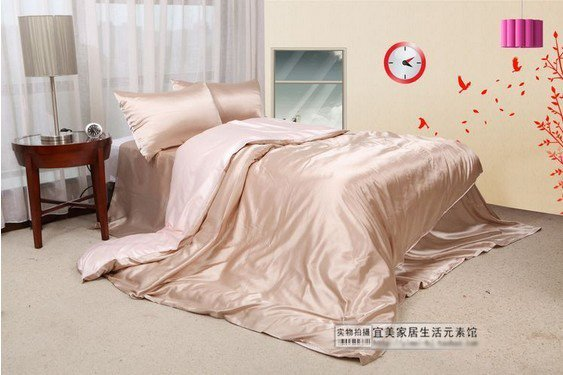 120402   free shipping Silk bed sheet/    printed bedding set/ 4pcs bedding set/ flat sheet/very large