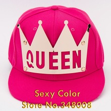 Good sale boutique vintage metal cut letter QUEEN KING baseball cap for women men new fashion brand snapback caps hat(China (Mainland))