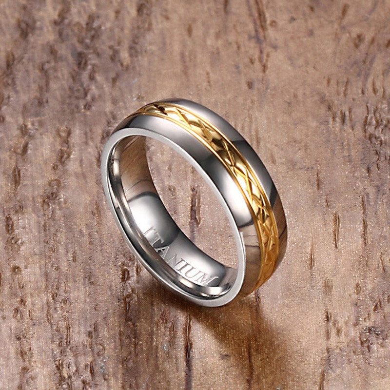 VNOX 100% Titanium Ring for Women Jewelry Female Wedding Band Ring