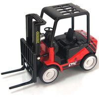Free shipping Forklift pallet truck crane WARRIOR plain fork can lift car model toys /baby toy
