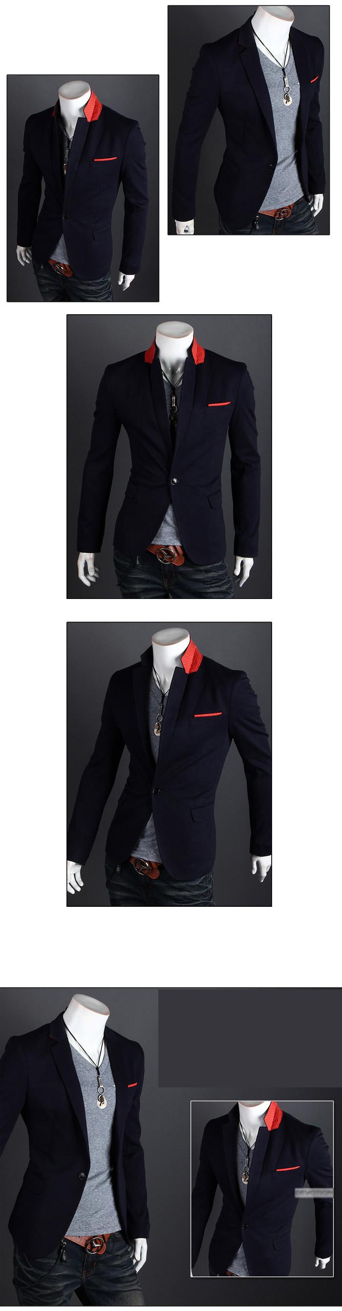 2015 новое поступление пиджак мужчин пиджаках свободного покроя Jaqueta Masculino slim-подходят мужские лоскутные пиджаки 4 цветов Большой размер BS2014010
