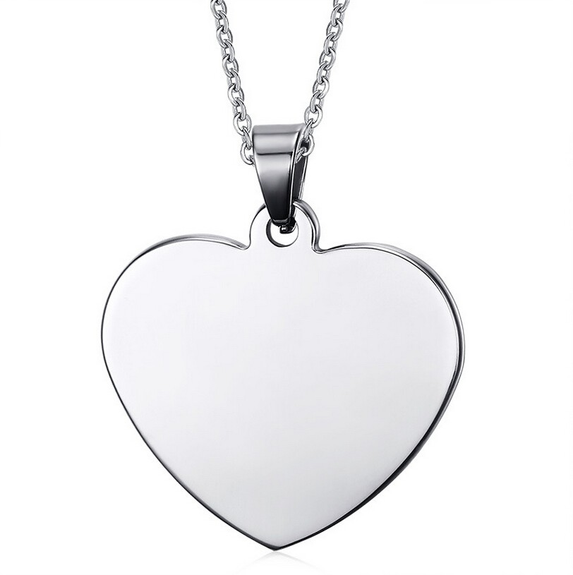 Wholesale wholesale customized engraved stainless steel heart shaped customized engraved stainless steel heart shaped pendant personalized necklace with any message aloadofball Gallery