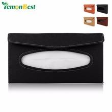 Universal PU Car Tissue Box Sun Visor Tissue Dispenser Case Auto Accessories Decor(China (Mainland))