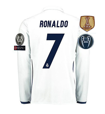 Free patches EUR 2017 Realed Madrided Top Best Thai AAA Qualit adult Full Soccer jersey 16 17 Home Away 3RD Shirt Free shipping3(China (Mainland))