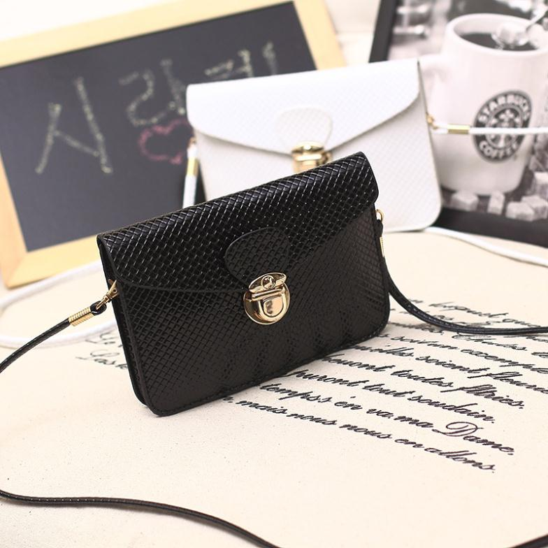 Fashion 2015 new phone case quilted women handbag multi-layer cell phone bags purse mini shoulder bag women messenger bags(China (Mainland))