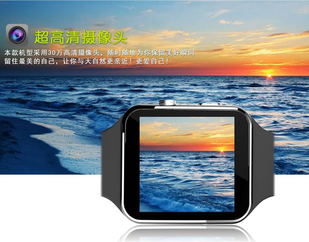 2016 New Bluetooth Smart Watch X6 Smartwatch sport watch For Apple iPhone Android Phone With Camera FM Support SIM Card