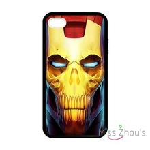 For iphone 4/4s 5/5s 5c SE 6/6s plus ipod touch 4/5/6 back skins mobile cellphone cases cover Skull Head Iron Man Superhero