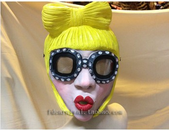 New Korean version of the influx of women Halloween masquerade mask latex figure full face masks FD121(China (Mainland))