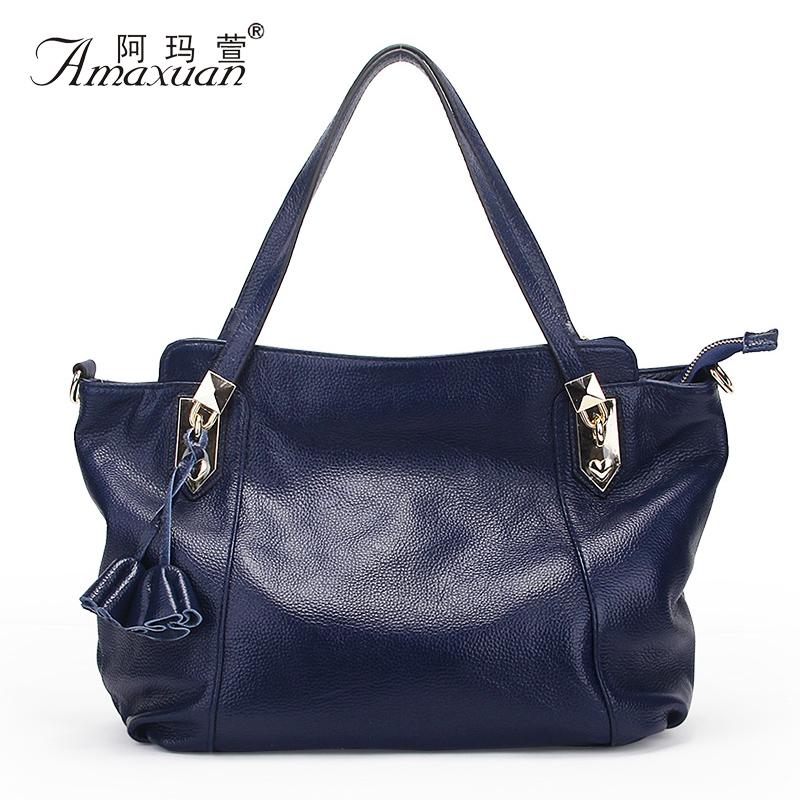 High Quality Women Handbag Fashion Solid Soft Fashion Women Genuine Leather Handbag Shoulder Bag Crossbody Bag Tote BH1160<br><br>Aliexpress