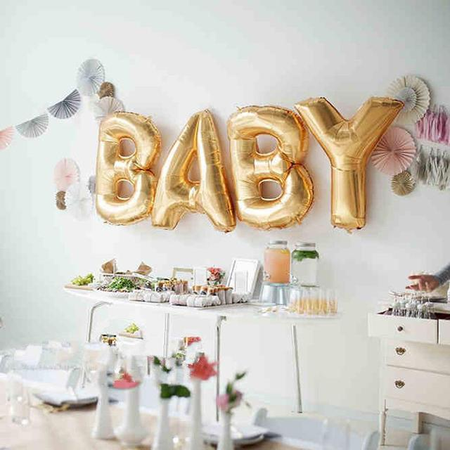 Foil Helium Balloons for Baby Shower Party, 4 pcs