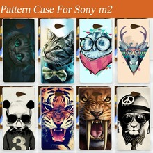 Buy 11 patterns painting colorful tiger lion owl cat animals hard pc Case Cover FOR sony Xperia M2 S50h D2302 D2305 D2303 D2306 for $1.40 in AliExpress store