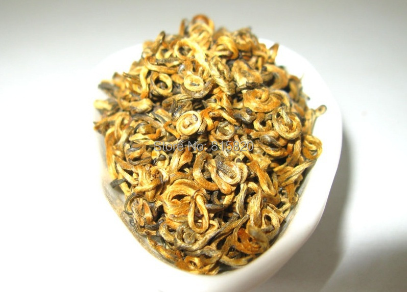 100g Top Quality curly jinjunmei Dian Hong JinJunmei Yunnan Black Tea Free Shipping