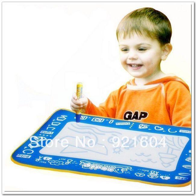 Free shipping discount tablet toys Aqua Doodle drawing toys Magic Doodle Mat 45*30cm drawing(China (Mainland))