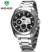 Caliente venta 30 metros impermeabiliza WEIDE marca de lujo para hombre Diver analógico Sprots cuarzo reloj de pulsera moda reloj militar de acero completo