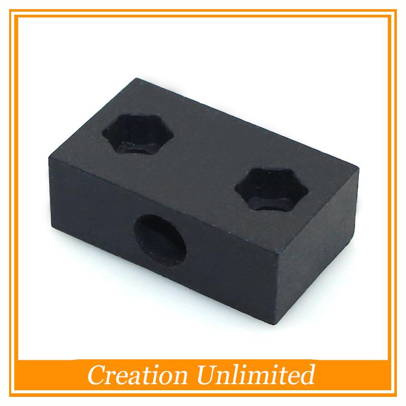 5 UNIDS CNC Piezas De Teflón Bloque para T8 8mm Metric Acme Tornillo Tuerca Para Openbuilds beam-c 3D Impresora Hardwares Piezas(China (Mainland))