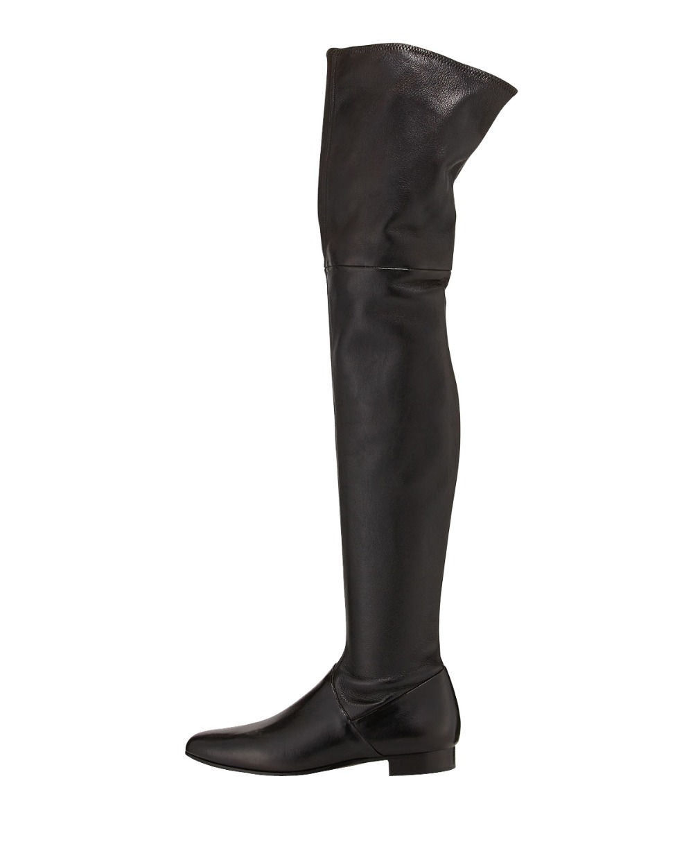 High-quality Women Over-Knee Boots Sheepskin 2.5cm Square Heels Fashion Boots Black Customizable Shoes Woman Plus Size 4-15