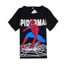 New Fashion Spiderman Boys T Shirts Cartoon Short Sleeve T Shirts Kids Boys Clothes Free Shipping