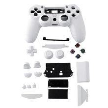Hot Wireless Game Controller Shell Case Cover Housing +Button Pad Case White Parts For Sony PS4 Gamepad Joystick Replacement