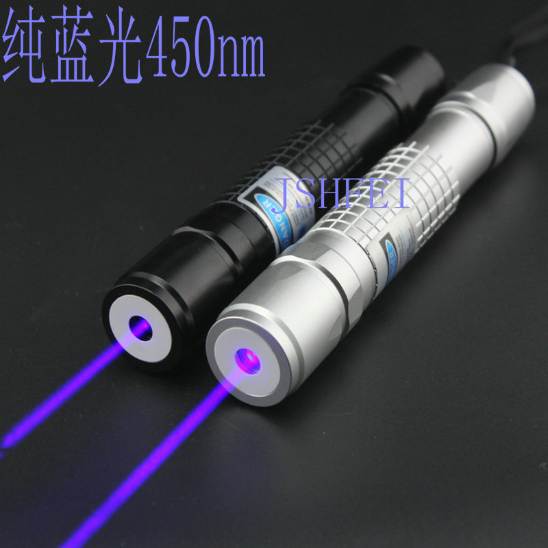 JSHFEI 450nm blue Laser pointer red laser pointer light match include 18650 battery and charger WHOLESALE LAZER(China (Mainland))