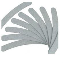 2015 New 10 x Nail Art Sanding Curve Sandpaper Nail tools Grey plastic emery board Nail Files