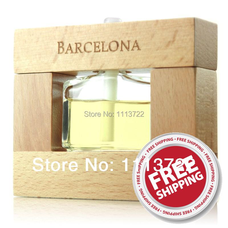 CarSetCity Barcelona Wooden Frame Home Decor Car Styling Natural Fragrance Parfum Imported Perfumes Importados Car Air Freshener(Hong Kong)