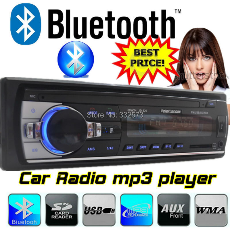 2015 12V Car Stereo FM Radio MP3 Audio Player built in Bluetooth Phone with USB SD MMC Port Car radio bluetooth In-Dash 1 DIN(China (Mainland))