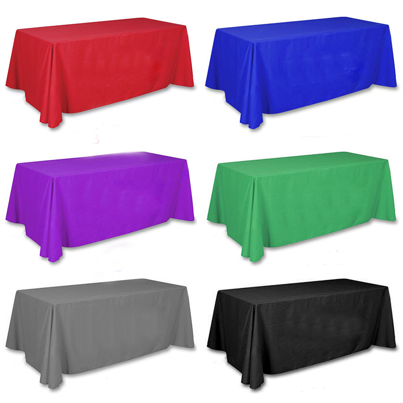 5pcs/ Pack 90 x 132 inch Rectangular Satin Tablecloth 22 colors Table Cover for Wedding Party Restaurant Banquet Decorations-L1(China (Mainland))