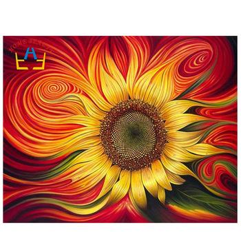HOME BEAUTY full square drill diamond embroidery sun flowers painting with diamonds mosaic rhinestone picture needlework AA885