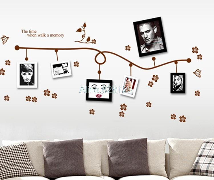 2015 landscape design good family together picture window wall stickers decorated tree home office multifunction love(China (Mainland))