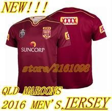 NEW QLD MAROONS 2016 MEN'S Super Rugby jersey Queensland(China (Mainland))